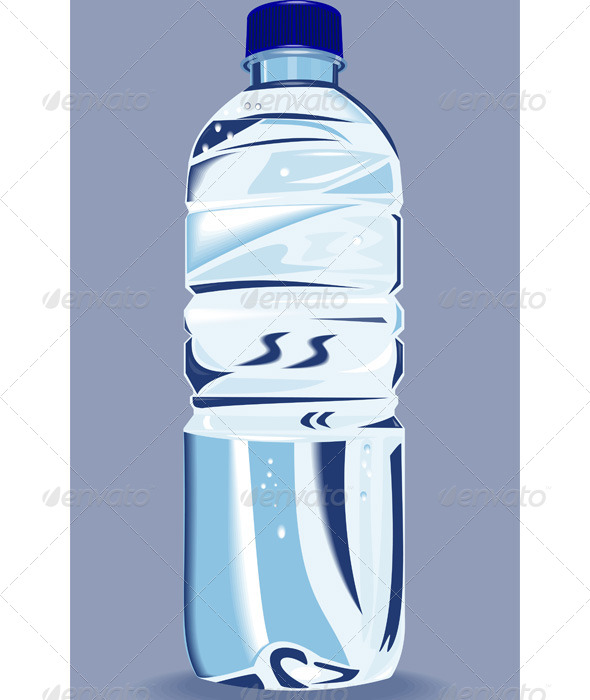 Water Bottle Graphic: Plastic Water Bottle Container