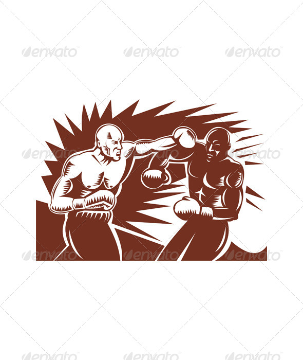 GraphicRiver Boxer Connecting Knockout Punch 5199191