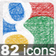80+ Hand Drawn Social Icons - GraphicRiver Item for Sale