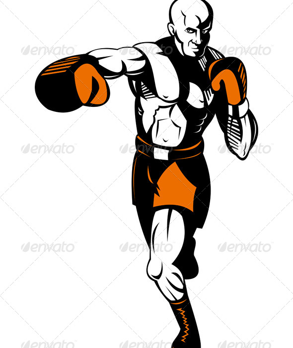 GraphicRiver Boxer Punching 5199228