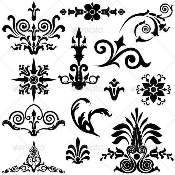 GraphicRiver Vintage Design Elements 5199270