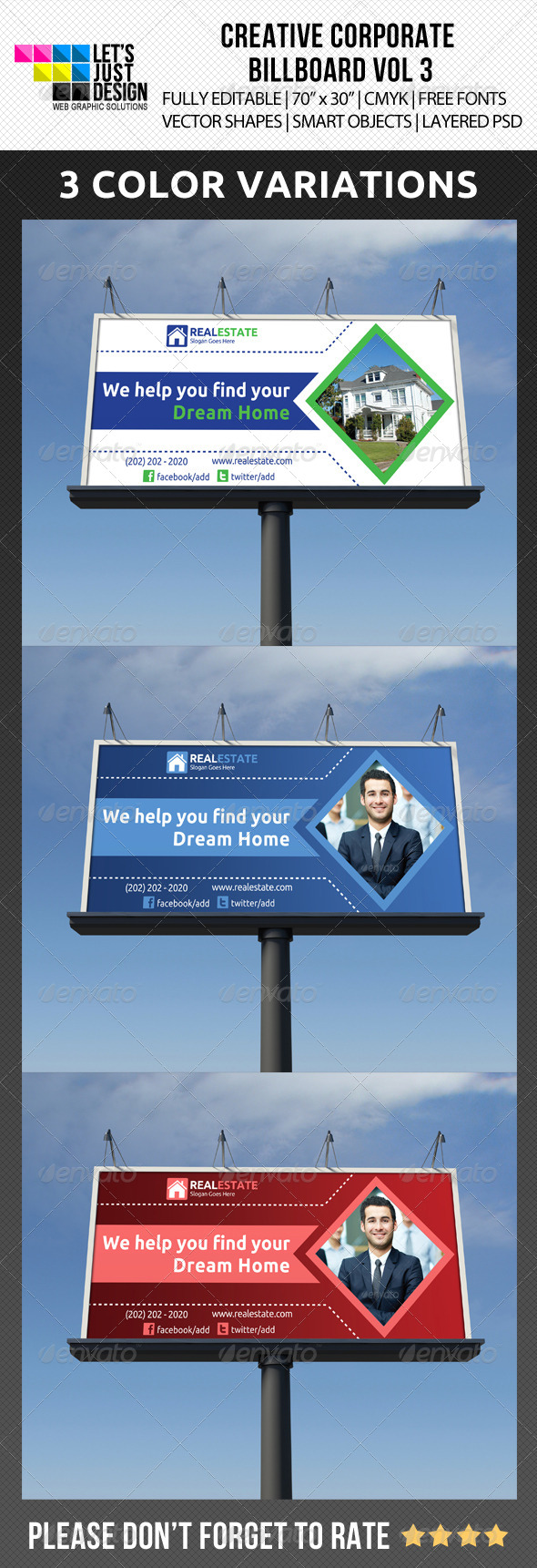 Creative Corporate Billboard Vol 3 - Signage Print Templates