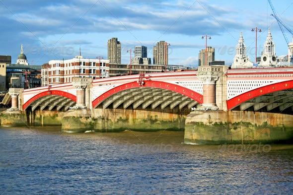 Blackfriars bridge - Stock Photo - Images