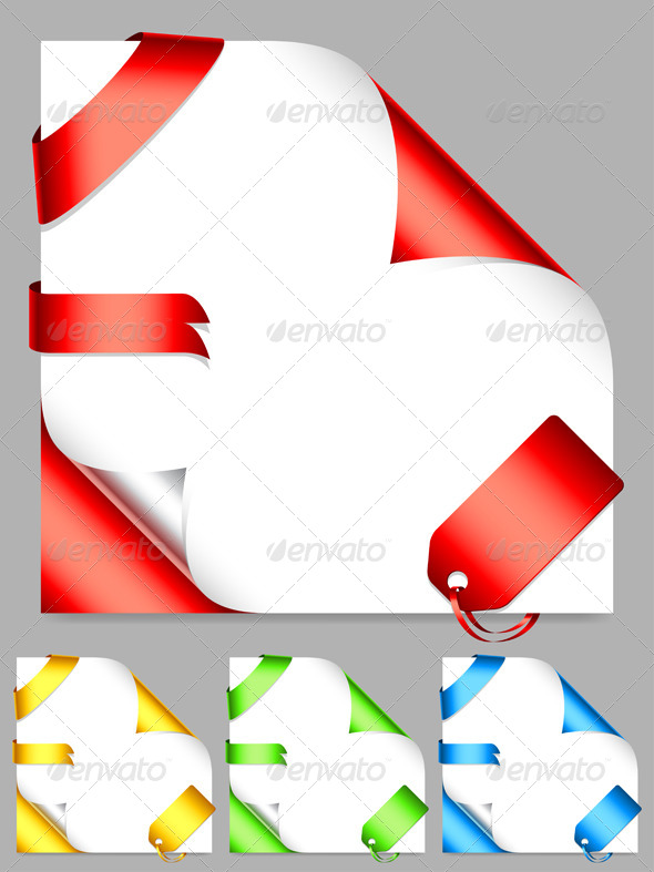 GraphicRiver Corners and Ribbons 5199605