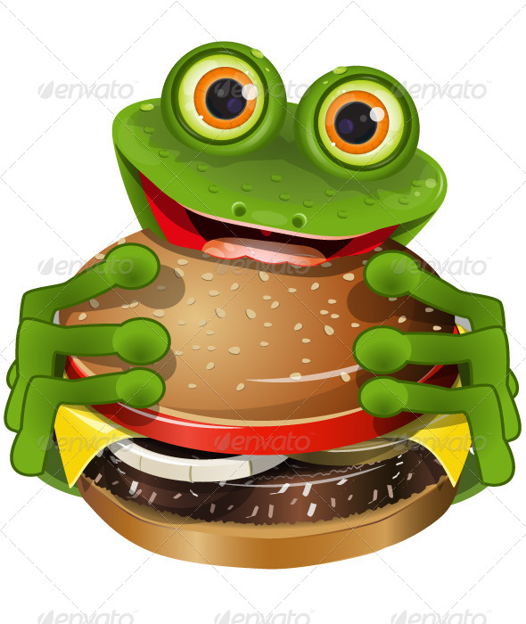 GraphicRiver Frog with Cheeseburger 5199677