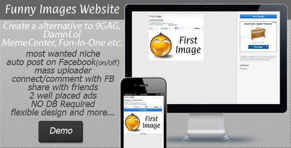 CodeCanyon Funny Images Website 9GAG DamnLol alternative 5199781