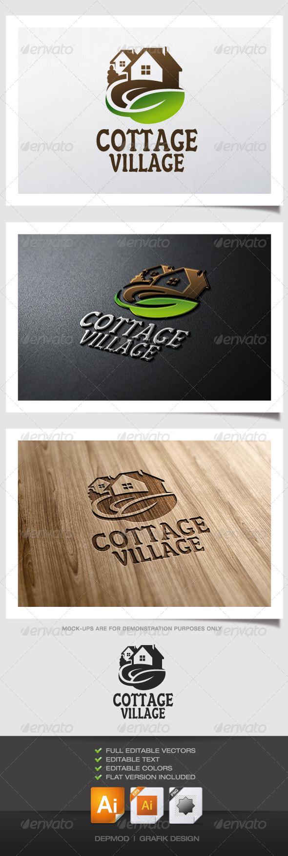 GraphicRiver Cottage Village Logo 5199844