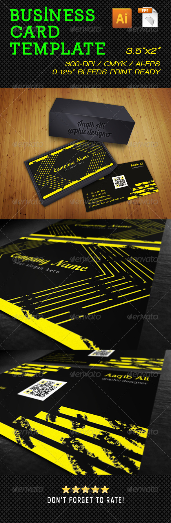 GraphicRiver Grunge Business Card 5199884