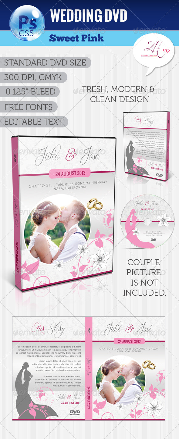 GraphicRiver Wedding DVD Sweet Pink 5199885