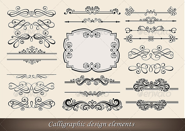 GraphicRiver Calligraphic Design Elements 5199937