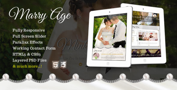 ThemeForest Marry Age Responsive One Page Wedding Template 5196941