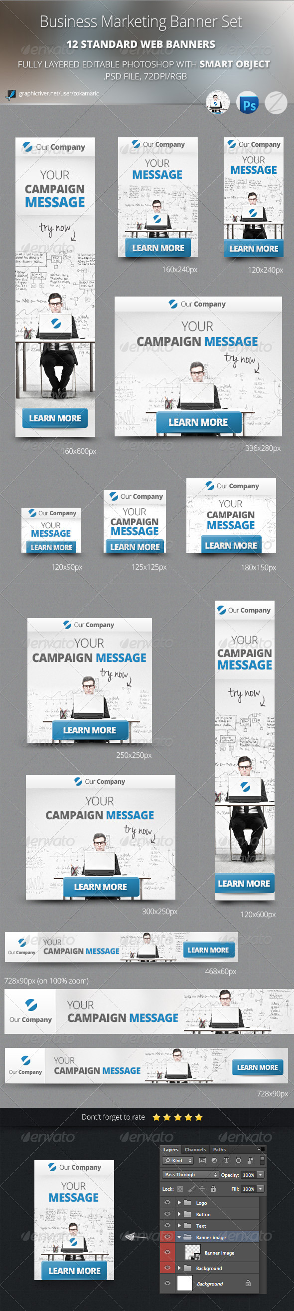 GraphicRiver Business Marketing Banner Set 5200139