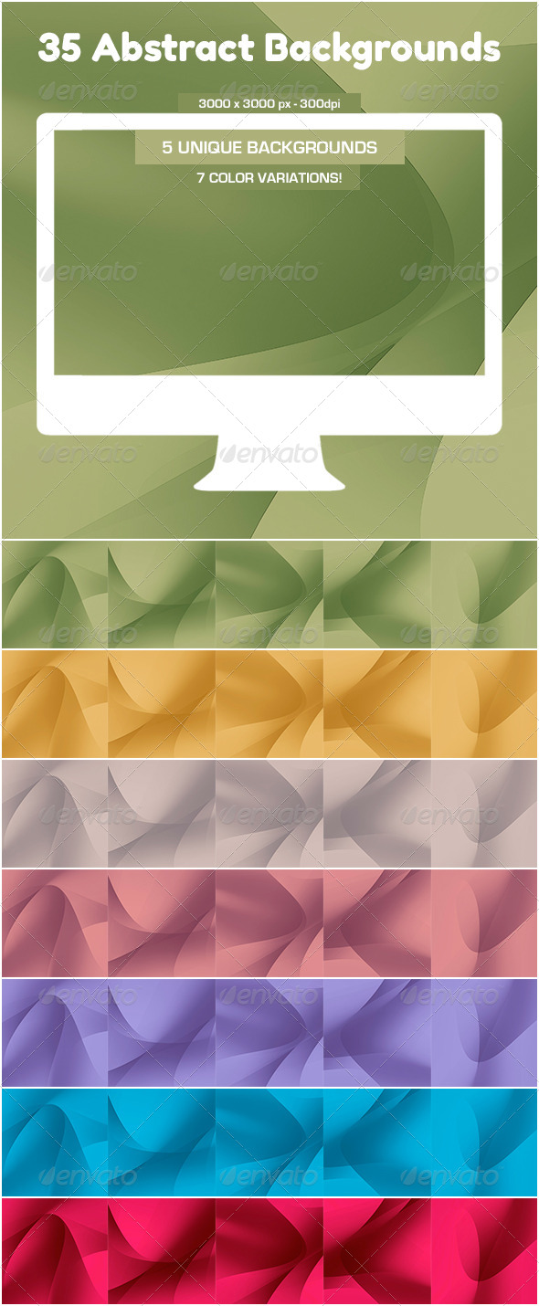 GraphicRiver 35 Soft Curves Backgrounds 5200183