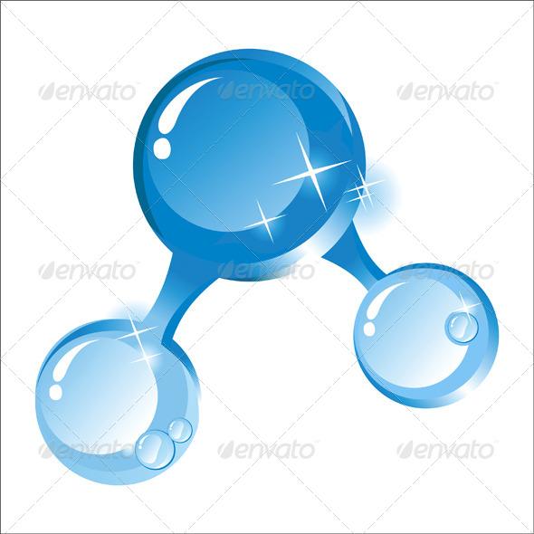 GraphicRiver Water Molecule 5200303
