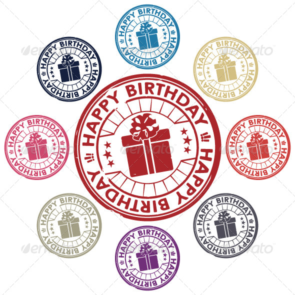 GraphicRiver Birthday Stamp 5200321