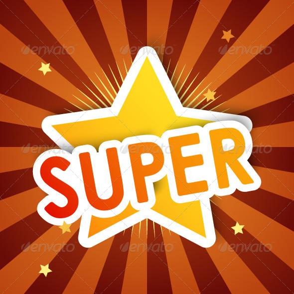 GraphicRiver Super Star Background 5200391