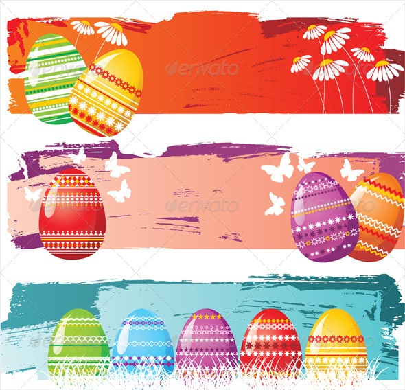 GraphicRiver Easter Banners 5200414