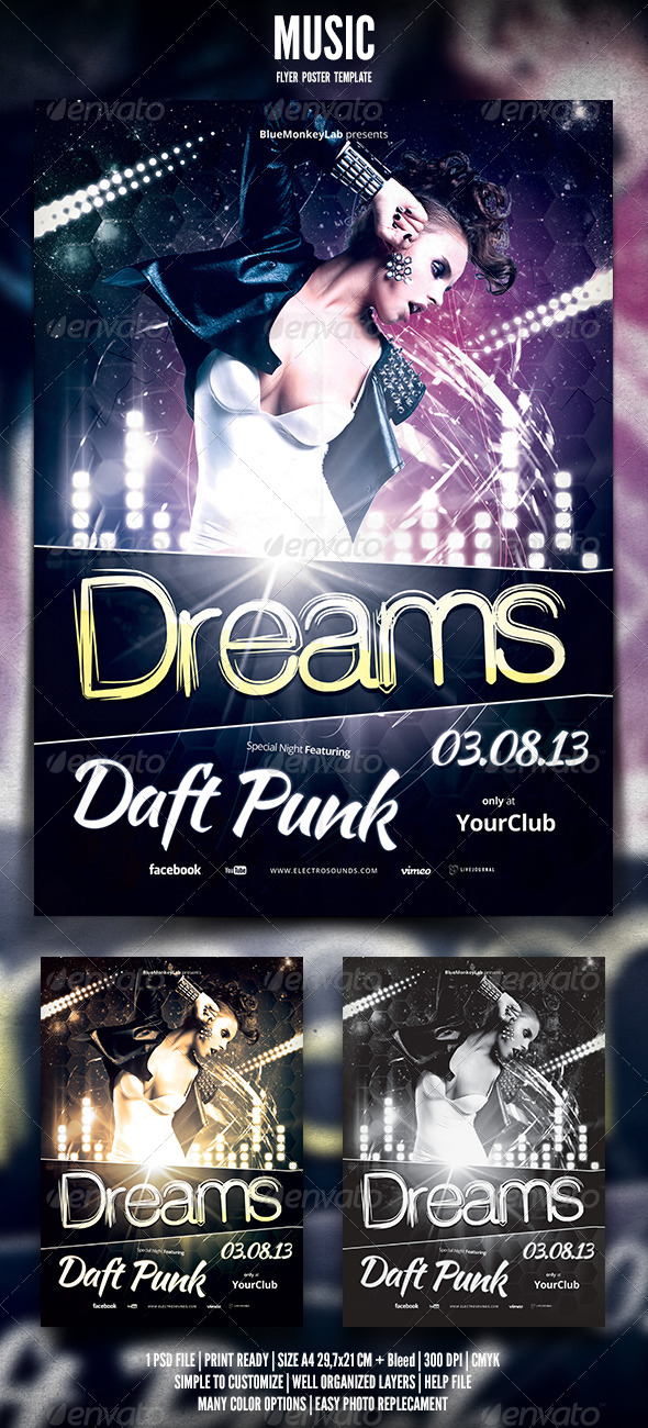 Music Flyer / Poster 7 - Clubs & Parties Events
