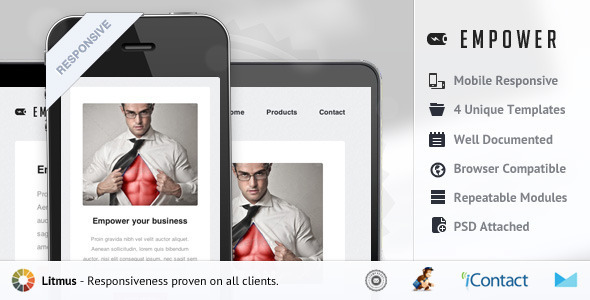ThemeForest Empower Responsive E-mail Template 5200842