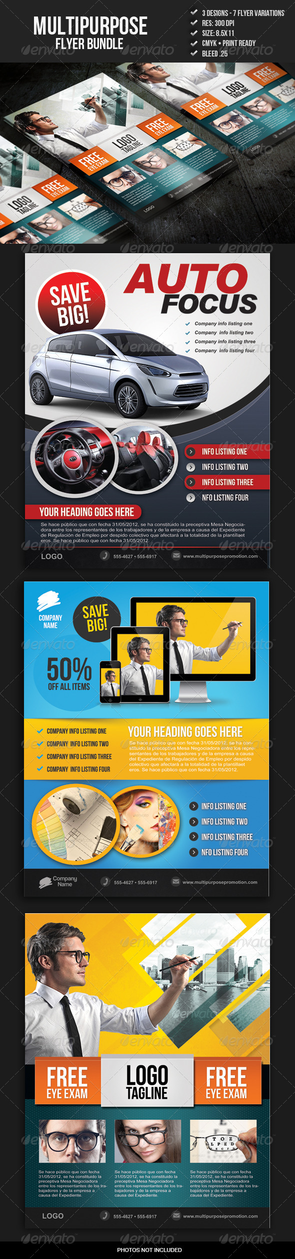 GraphicRiver Multipurpose Promo Flyer Bundle 5200867