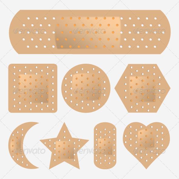 GraphicRiver Adhesive Bandage Set 5194595
