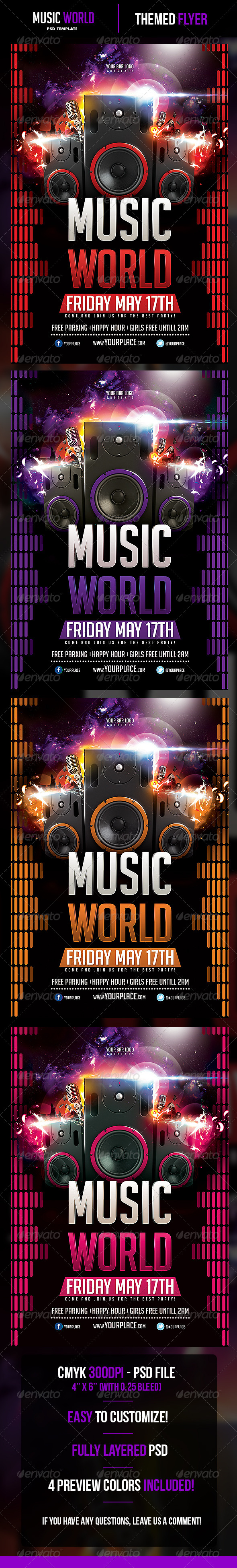 GraphicRiver Music World Flyer Template 5201526