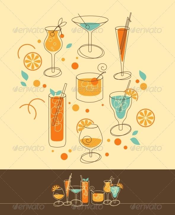 GraphicRiver Cocktail Set 5201593