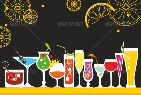 GraphicRiver Party Cocktail Set 5201661