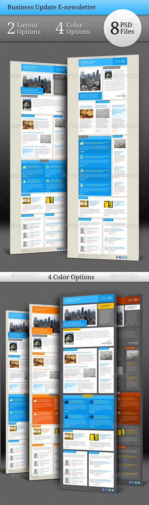 GraphicRiver Business Update E-newsletter 534574