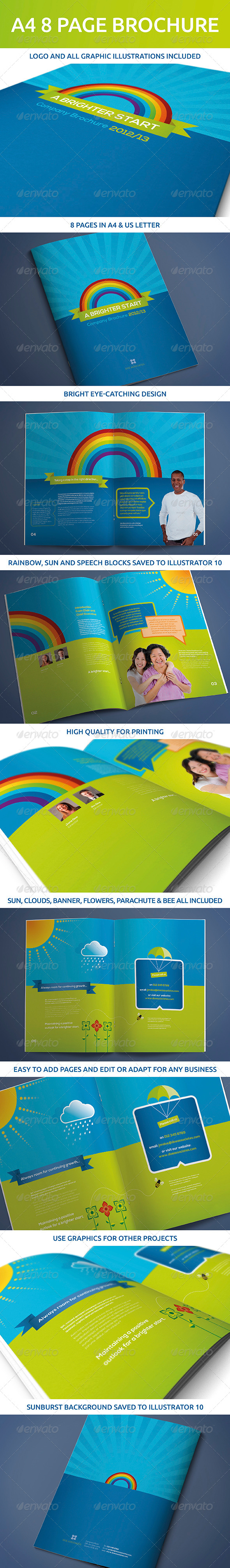 GraphicRiver 8 Page A4 and US Letter Brochure 5201778