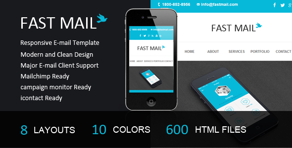 ThemeForest Fast Mail- Responsive E-mail Template 5202205