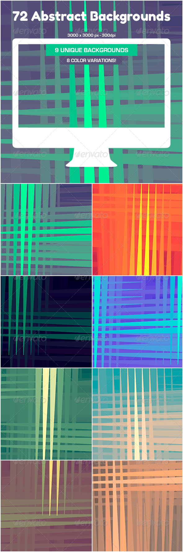 GraphicRiver 72 Abstract Backgrounds 5202433