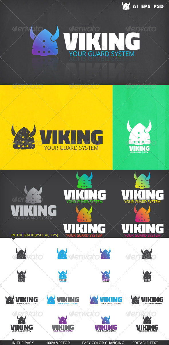 GraphicRiver Viking Logo 5202579