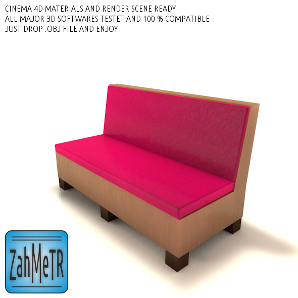 3DOcean Mini Sofa Low Poly 0 5204393