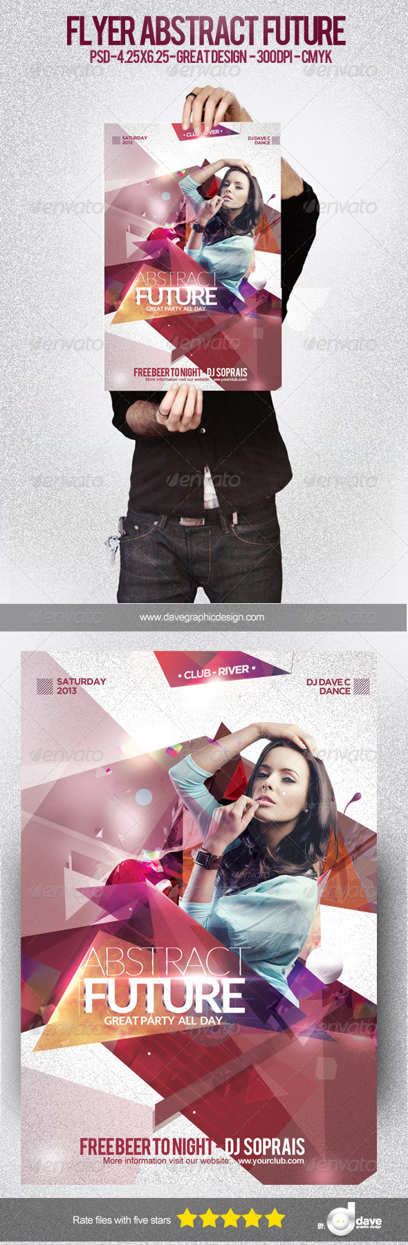 GraphicRiver Flyer Abstract Future 5141196
