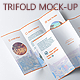 Photorealistic Trifold Mock-Up - GraphicRiver Item for Sale