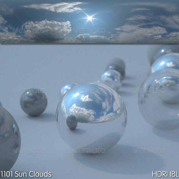 HDRI IBL 1101 Sun Clouds - 3DOcean Item for Sale