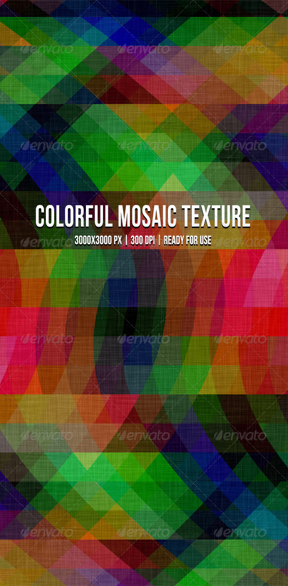 Colorful Mosaic Texture Background - Backgrounds Graphics