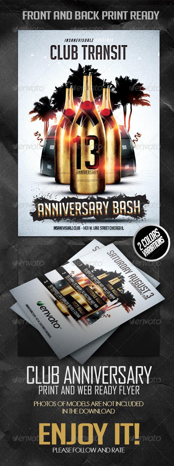 GraphicRiver Club Anniversary Flyer 5206221