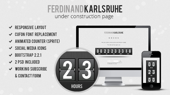 Responsive Animated Under Construction Page