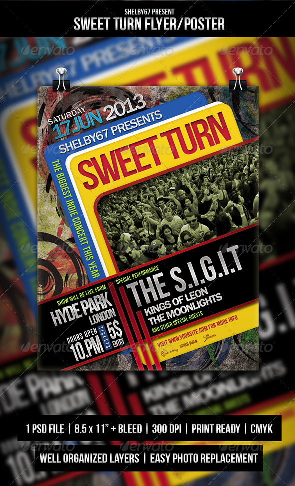 GraphicRiver Sweet Turn Flyer Poster 5206705