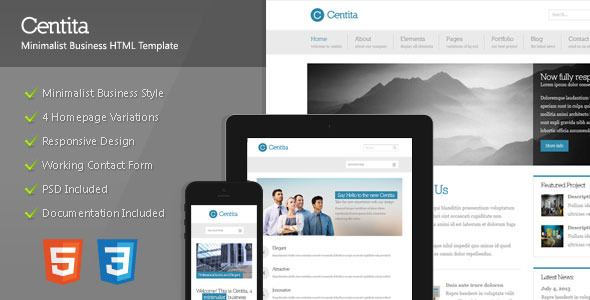 Centita - Minimalist Business Template