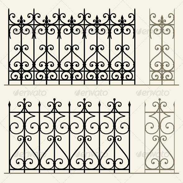 GraphicRiver Wrought Iron Modular Railings and Fences 5206725