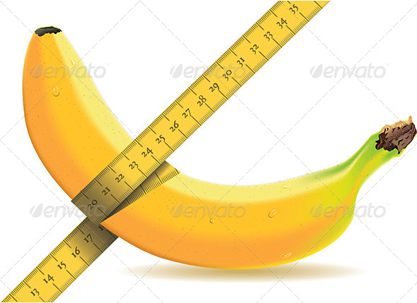 GraphicRiver Banana Isolated on White with a Tape Measure 5207276