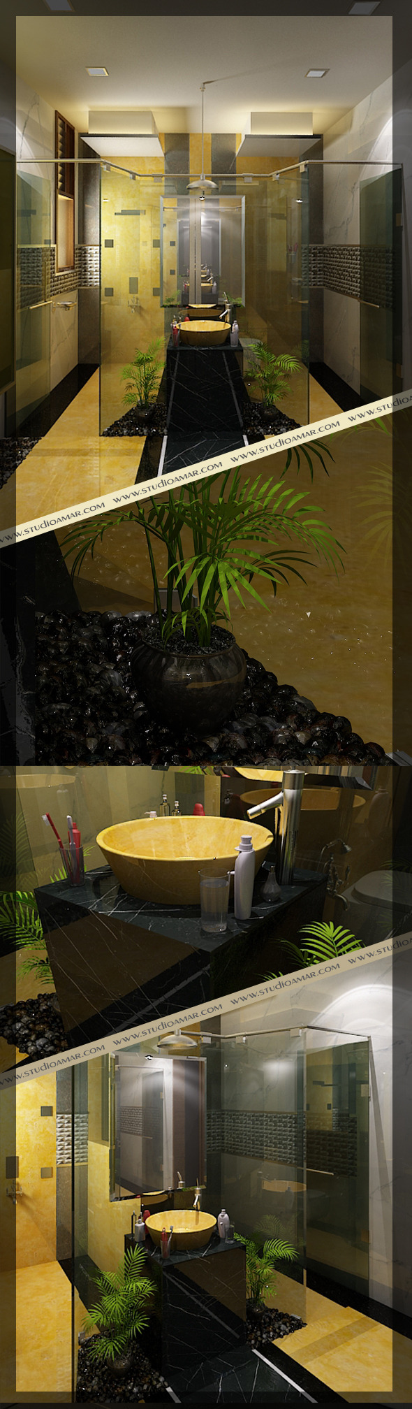 Realistic Bathroom 118 - 3DOcean Item for Sale