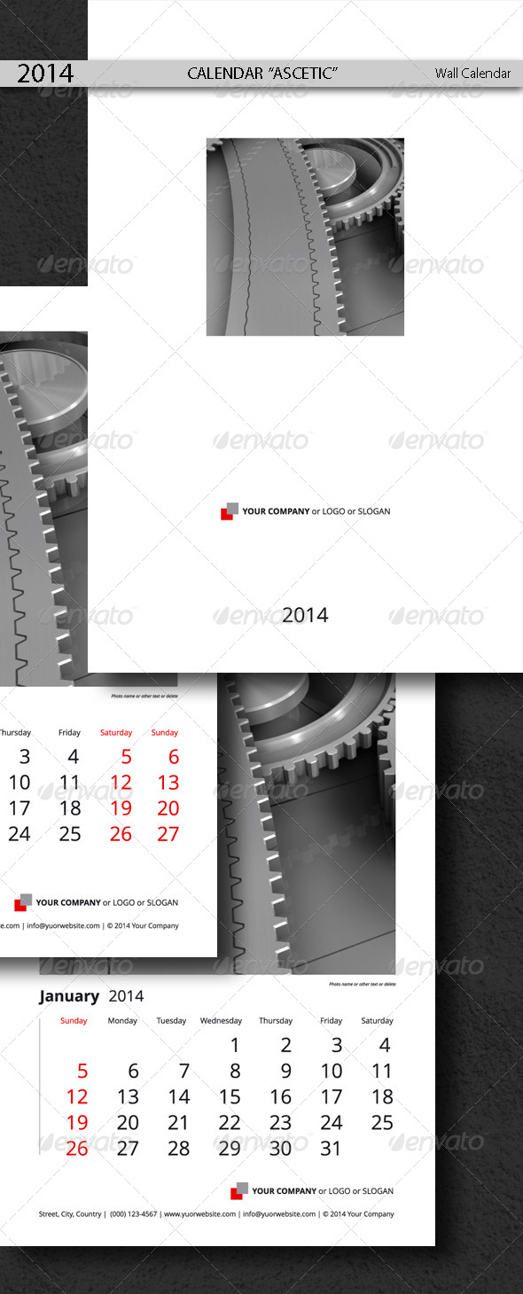 GraphicRiver Calendar Template Ascetic 2014 5207620