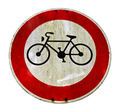 Grungy cycling sign