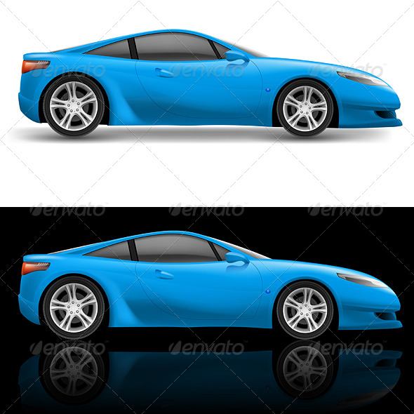 GraphicRiver Blue Sport Car 5207743