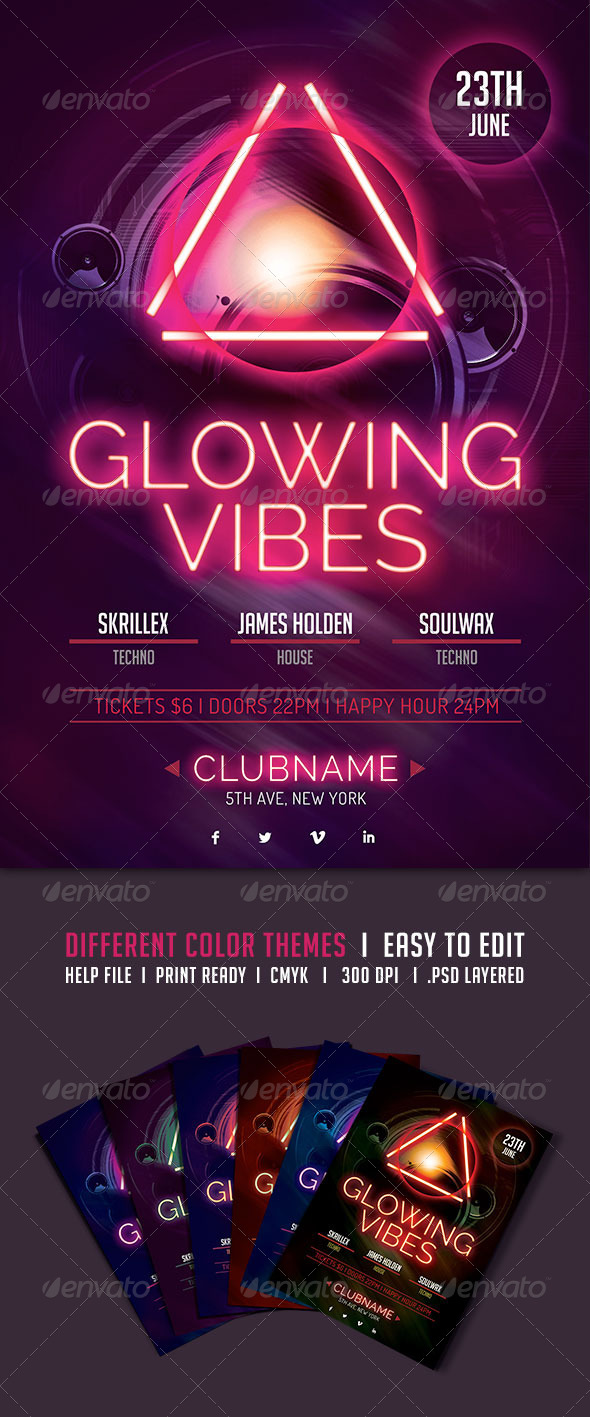 GraphicRiver Glowing Vibes Flyer 5207847