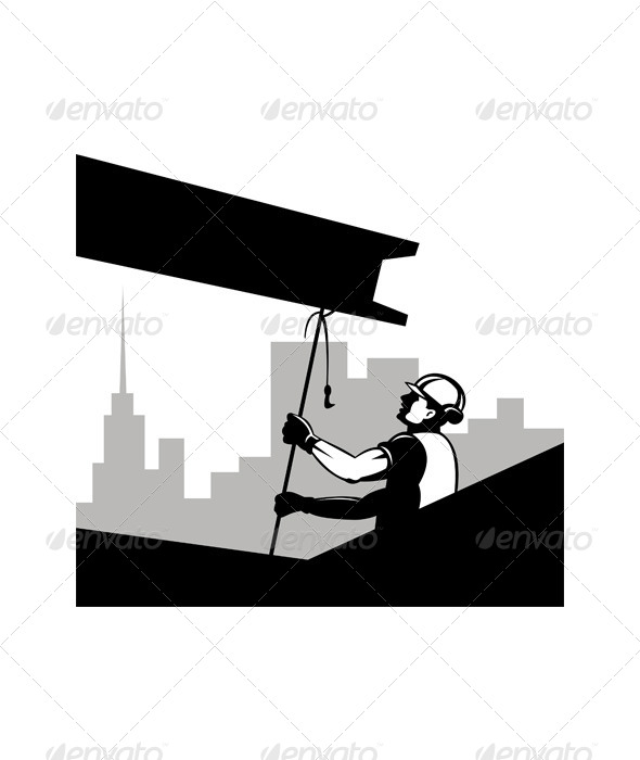 GraphicRiver Construction Worker at Work 5208040
